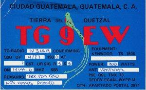 7302 Amateur Radio QSL Card  CIUDAD GUATEMALA WITH POST METER