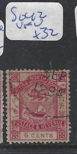 NORTH BORNEO (P2810B)  6C  P&R  SG 43  CDS  VFU