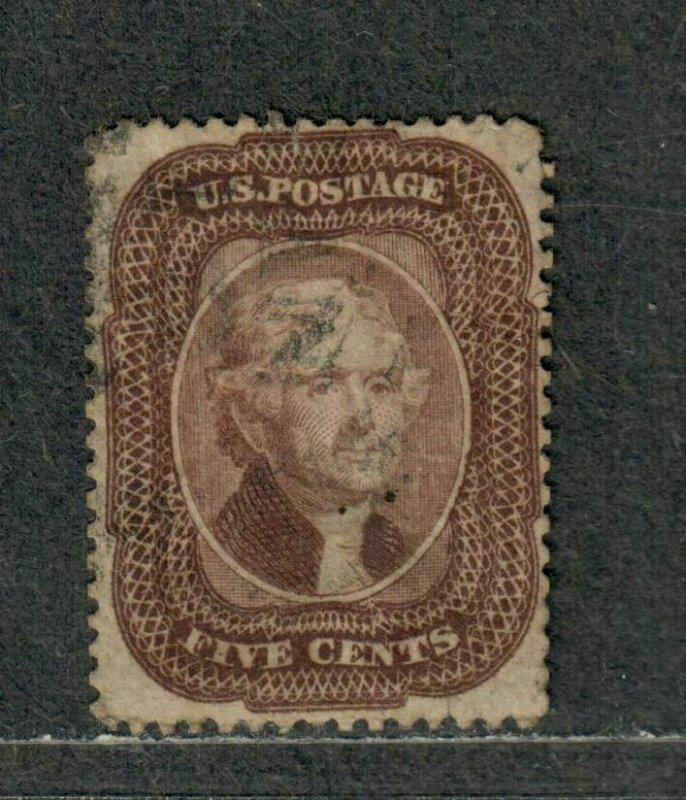 US Sc#29 Used/VF, Small Tear At Top, Cv. $350