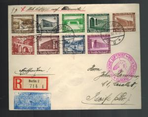 1936 Germany Hindenburg Zeppelin cover to Recife Brazil LZ 129 6th SAF See back!