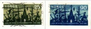 Norway Sc 456-7 1964  Seamans Mission stamps used