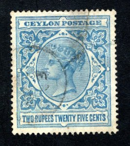 Ceylon #163,  VF, Used, See Note,   CV $52.50 ......  1290132