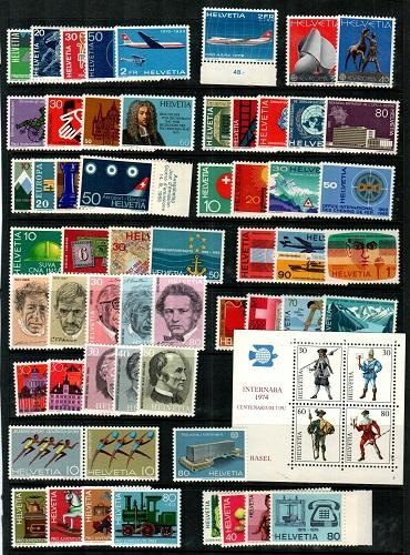 Switzerland Mint NH sets lot - Catalog Value $120.40 [TC776]