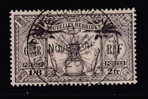 New Hebrides (French) a 2Fr violet fine used from 1925