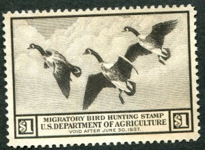 RW3 $1 Canadian Geese Mint    Very Fine