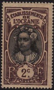 French Polynesia 22 Tahitian Girl 1913