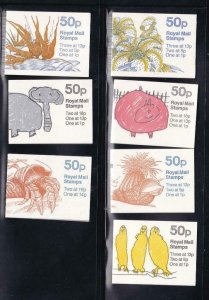 GB BK # 248A-250 VF-MNH 7 DIFFERENT COVERS BOOKLETS PO FRESH CAT VALUE $34+