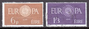 Ireland - Scott #175-176 - Used - Paper adhesion on reverse - SCV $14.00