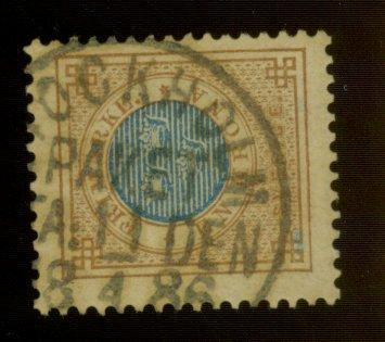Sweden #38 used F-VF CAt$20
