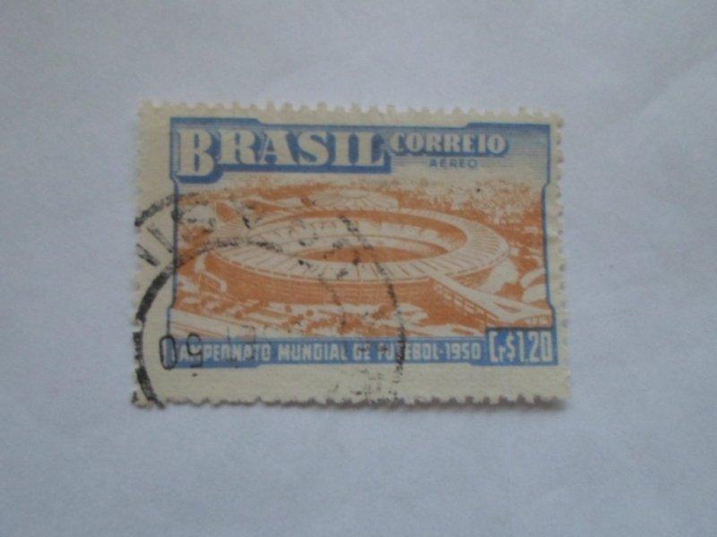 BRASIL STAMP USED NO HINGE MARKS # 22