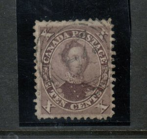 Canada #17 Very Fine Used With What Appears To Be 4 Ring 24 Cancel