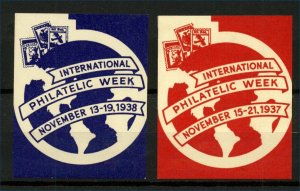 USA 1938 International Philatelic Week Labels