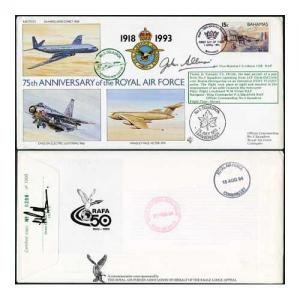 RAF(75)25c 75th Ann of RAF No.5 Sqn Signed by AVM J.S. Allison
