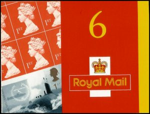 Great Britain 2001 Royal Navy Submarine CYLINDER Booklet SG PM2 Cat Val £110