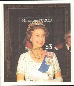 Tuvalu-Nanumaga  #79-82, Complete Set(6), Speciman Overprinted, 1987, Never H...