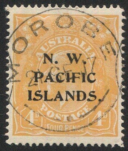 NEW GUINEA  (N.W.P.I.) Australia Sc 16  4d GV, SG 70, MOROBE Postmark/Cancel
