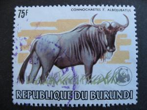 Burundi Sc 600a U World Wildlife Fund WWF overprint, postally used,2 short perfs