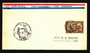 Canada 1929 FFC - Ft McMurray to Ft Norman - Z16668