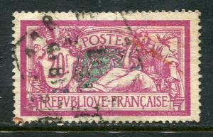 France Lot 6604 Repvbliqve Francaise 1925 YVERT 208  20 Fr Liles-rose et vert-bl