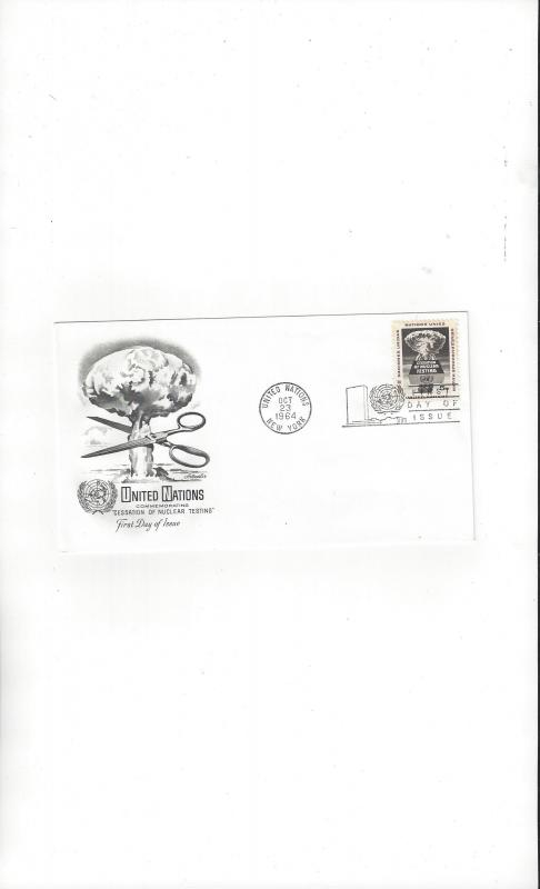 UN New York FDC 133 Cessation of Nuclear Testing Artmaster Cachet