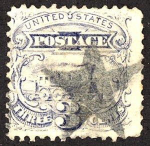 U.S. #114 Used BLue Cancel