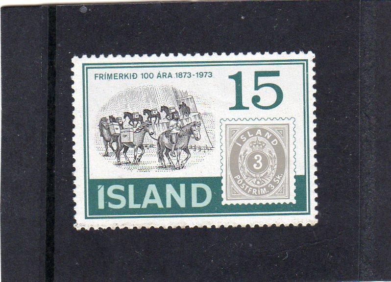 Iceland 1973 Stamp cent MNH