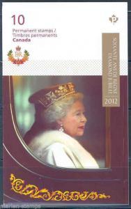 CANADA QUEEN ELIZABETH II DIAMOND JUBILEE COMPLETE BOOKLET OF 10 STAMPS MINT