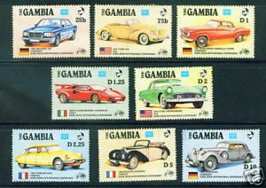 Gambia MNH 620-7 Centenary Of Automobiles 1986 SCV 9.40