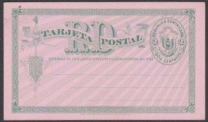DOMINICAN REPUBLIC Early 2c postcard fine unused............................R373