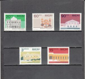 MACAO 489-493 MNH 2014 SCOTT CATALOGUE VALUE $8.50