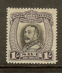 Niue, Scott #66, 1sh King George V, Wmk, MH