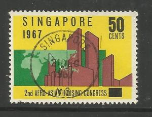 SINGAPORE 82 USED, BUILDINGS AND MAP OF AFRICA AND SOUTHEAST ASIA