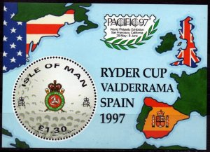 Isle of Man 1997,Golf Ryder Cup  MNH S/Sheet # 756