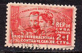 Cuba SC# B1  1938 Curie semi-postal used