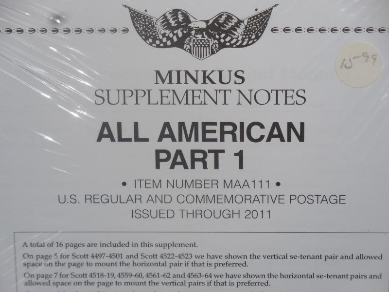 Minkus All-American part one 2011 pages new