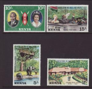 Kenya MNH 84-7 QE II Silver Jubilee 1977