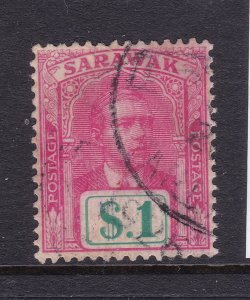 Sarawak an early $1 good/fine used unwatermarked