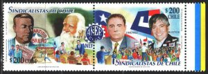 Chile. 1999. 1921-22. Labor organizations in Chile. MNH.