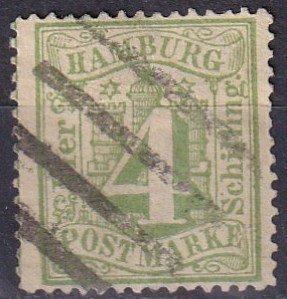 Hamburg #18 F-VF  Used CV $20.00  (Z6829)