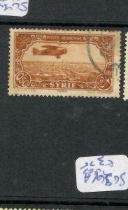 SYRIA   (PP0106B)  0.50 A/M  AIRPLANE  SG 261A    VFU