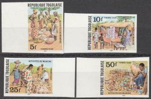 Togo #J68-71 MNH Imperf   (S7641L)