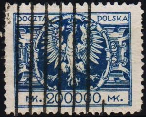 Poland. 1924 200,000m S.G.213 Fine Used