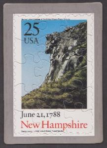 New Hampshire USPS Postcard Puzzle (Scott 2344)