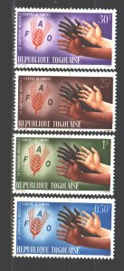 Togo. 1963. 363-66. FAO fight against hunger. MNH.