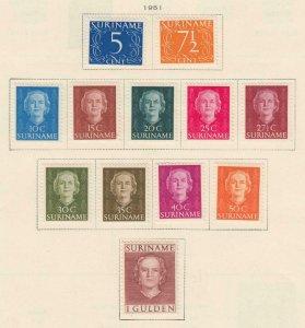 Surinam 243 - 252 Excellent État à Charnières Og N° Défauts Très Fine