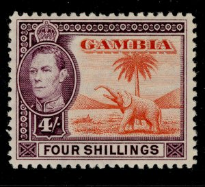 GAMBIA SG159, 4s vermillion and purple, LH MINT. Cat £38.
