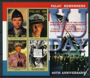 Palau 2005 MNH WWII WW2 VJ Day World War II 4v M/S John F Kennedy JFK Stamps