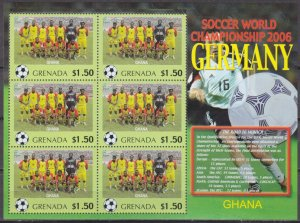 2006 Grenada 5723KL 2006 FIFA World Cup Germany( Ghana ) 9,00 €