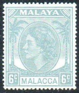 Malacca 1954 6c grey MH