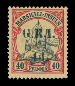 German Colonies - NEW BRITAIN G.R.I. Marshall Is  4d/40pf lake Sc# 36 mint MH VF